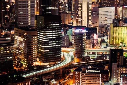 Traffic Nightscape Osaka | FE 70-200 f2.8 GM @ 2 sec, f8